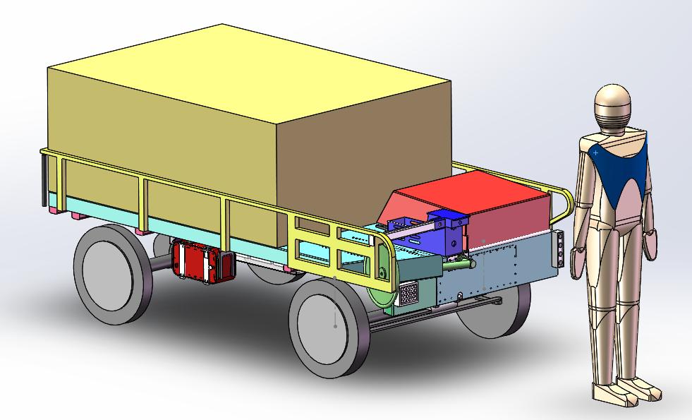 可驾驶型智能伴随运输机器人